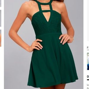 All My Daydreams Lace Skater Dress